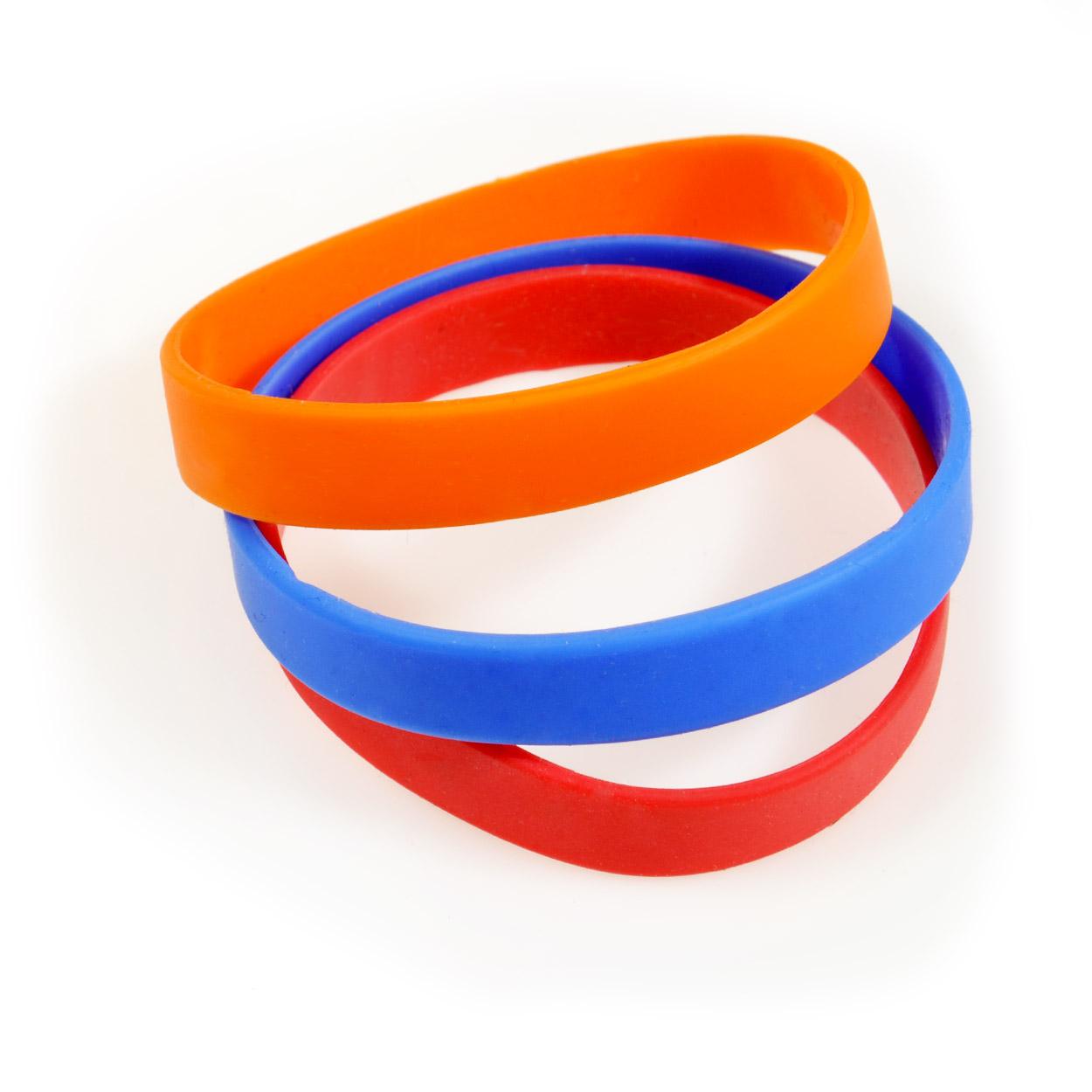 Silikonové náramky na ruku - bez motivu