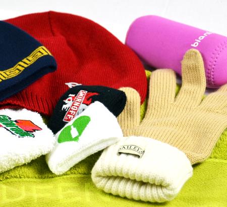 Čepice, rukavice, nátepníky - reklamní textil, potisky, výšivky