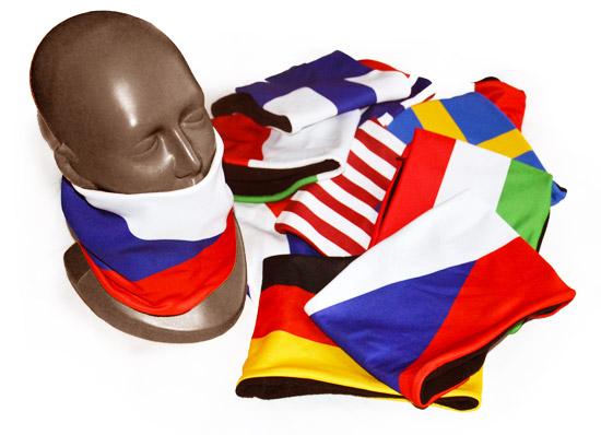 Nákrčníky s vlajkou - Multifunkční nákrčník (tunýlek) s plnobarevným potiskem