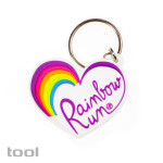 Rainbow Run : PVC přívěšek na klíče