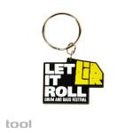 LET IT ROLL : gumový přívěsek na klíče : výroba reklamních předmětů