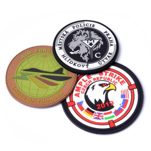 reklamní gumové nášivky z měkčeného pvc - zakázková výroba - patch 2D