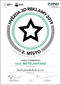 METRLANYARD - klíčenky a šňůrky na krk - lanyard - zakázková výroba - tool diplom - POPAI2019