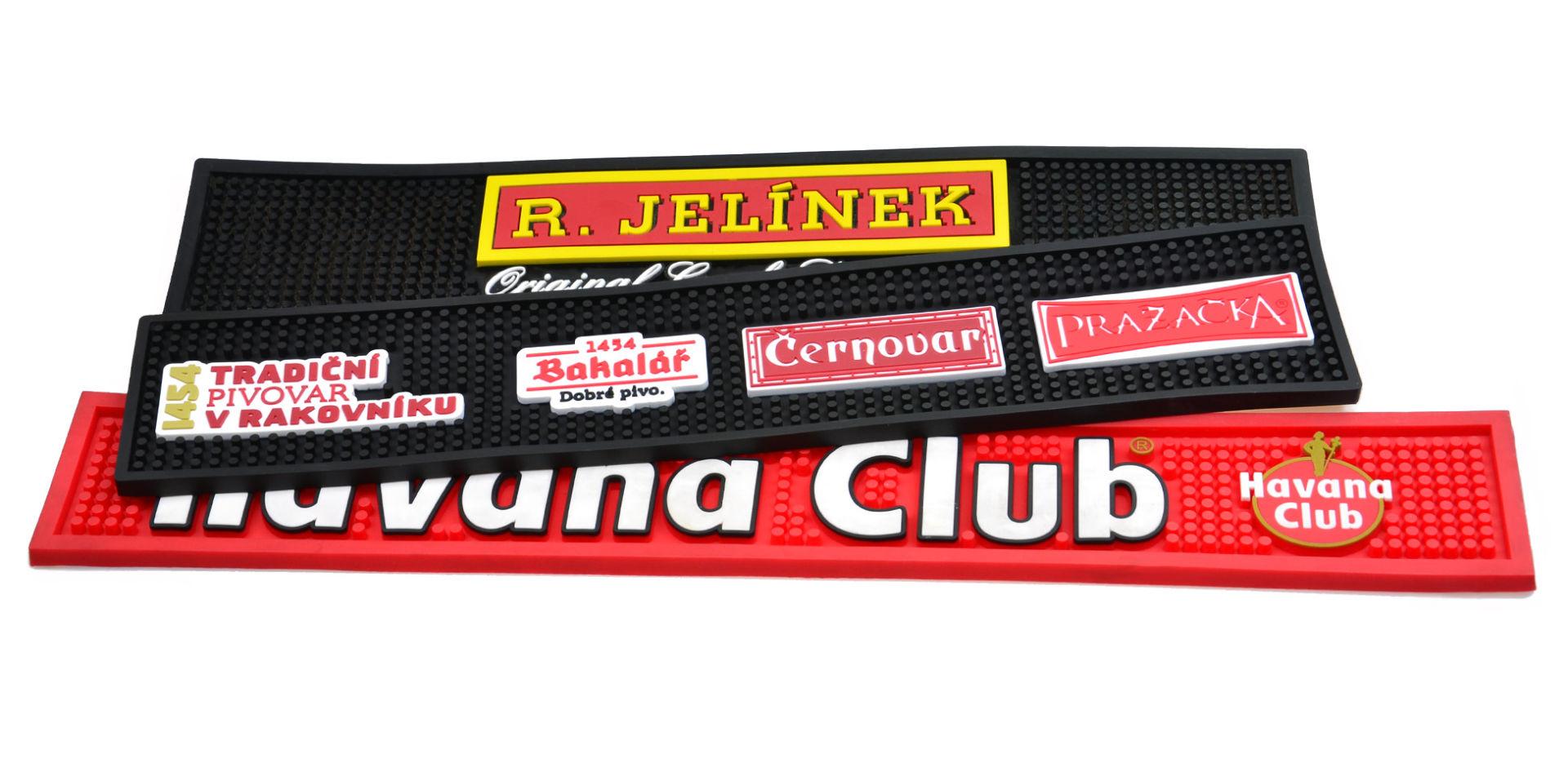 Barová guma, barové podložky - zakázková výroba